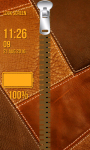 Leather Zipper Lock Screen Free screenshot 4/6