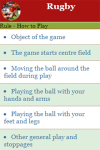 Rules to play Rugby screenshot 3/4