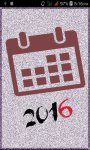 Calendar 2016 screenshot 1/4
