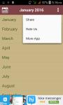 Calendar 2016 screenshot 4/4