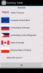 Currency Table App screenshot 2/6