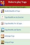 Rules to play Yoga screenshot 3/4