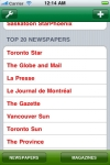 CANADIAN NEWSPAPERS and MAGAZINES screenshot 1/1