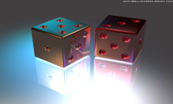 3d dice wallpaper screenshot 3/4