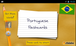 A Portuguese Flashcard App screenshot 1/4