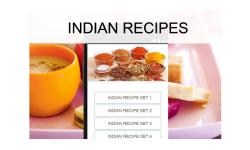 Indian recipes food screenshot 1/3