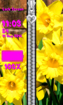 Zipper Lock Screen Daffodil screenshot 6/6