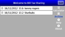 Bill Tax Sharing PRO screenshot 2/3