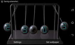 Newtons cradle Live Wallpaper  screenshot 3/5