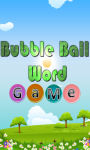 bubble ball word game screenshot 1/3