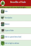 Benefits of Kale screenshot 3/4