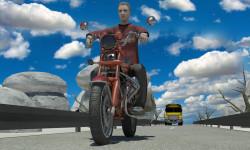 Moto Racer With Traffic game screenshot 3/5
