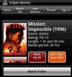mSpot Mobile Movies screenshot 1/1
