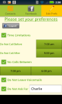 Call Preferences screenshot 3/4