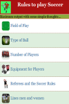Rules to play Soccer screenshot 3/4