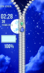 Moon Zipper Lock Screen screenshot 4/6