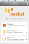 French Mobile  Vocabulary Trainer by babbel.com screenshot 1/1