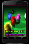 Rules of Snooker screenshot 1/3