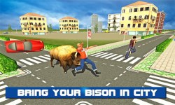 Angry Bison Attack in City 3D screenshot 1/3