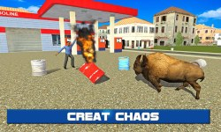 Angry Bison Attack in City 3D screenshot 2/3