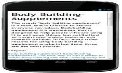 Free Bodybuilding Supplement Reviews screenshot 1/4