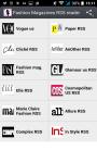 Fashion magazines rss reader screenshot 1/3