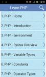 Learn PHP v2 screenshot 1/3