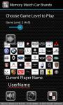 Memory Match Car Brands screenshot 1/3