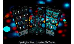 CyanLights Next Launcher 3D Theme screenshot 1/4
