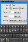 Calorie Calculator App screenshot 1/3