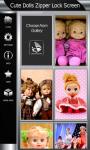 Cute Dolls Zipper Lock Screen screenshot 4/6