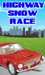 Highway Snow Race Game screenshot 1/1