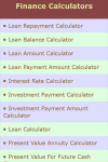 Finance Calculators v1 screenshot 2/3