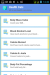 Health Calc Lite screenshot 1/6