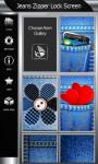 Jeans Zipper Lock Screen Best screenshot 4/6