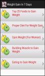 Weight Gain in 7 Days screenshot 3/3