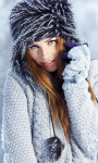 Winter Girl Portrait Live Wallpaper screenshot 1/3
