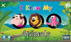 I Know My Animals- For Kids: FREE screenshot 1/4