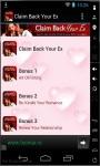 Claim Back Your Ex Now screenshot 1/3