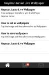 Neymar Junior Live Wallpaper screenshot 2/5