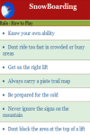 Rules to play Snow Boarding screenshot 3/4