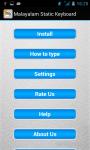 Malayalam Static Keypad IME screenshot 5/6