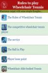 Rules to play Wheelchair Tennis screenshot 2/3