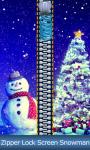 Zipper Lock Screen Snowman screenshot 1/6