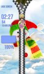 Zipper Lock Screen Snowman screenshot 5/6