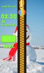 Zipper Lock Screen Snowman screenshot 6/6