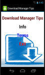 Download Manager Tips screenshot 2/3