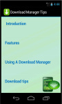 Download Manager Tips screenshot 3/3