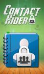 CONTACT HIDER Free screenshot 1/3
