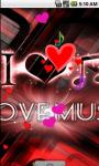 Love Music Cool Live Wallpaper screenshot 1/4